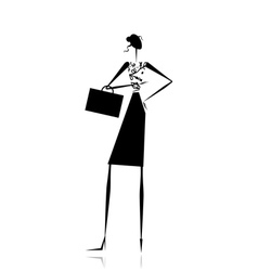 Business lady silhouette for your design vector