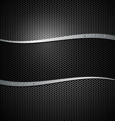 Abstract metal black design background vector image