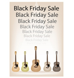 Beautiful guitars background of for black friday vector