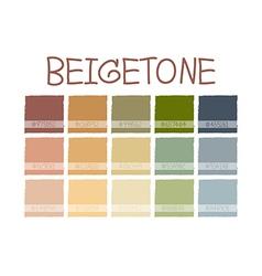 Beigetone color tone vector