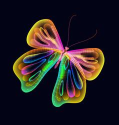 Bright butterfly over dark vector