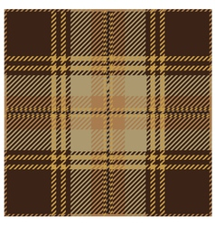 Brown Tartan Pattern vector image vector image
