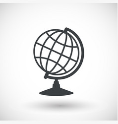 Earth globe model flat icon vector