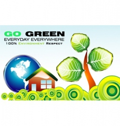 environment card vector image vector image