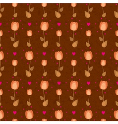 flower dark background with tulips vector image vector image