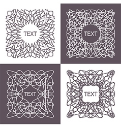 Frame with space for text vector