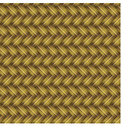 Golden wicker seamless pattern vector