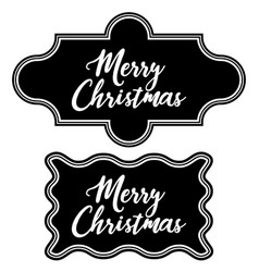 greeting vintage frame chalkboard merry christmas vector image
