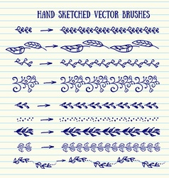 hand sketched brushes vector image vector image
