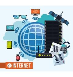 Internet design vector