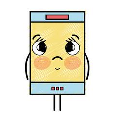 Kawaii cute tender smartphone technology vector