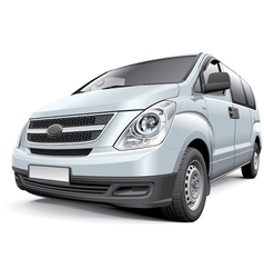 Korean light commercial vehicle vector image