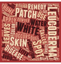 Leucoderma white spots and patches text background vector