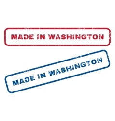 Made in washington rubber stamps vector