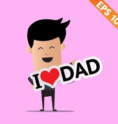 Man handling love tag sign - - EPS10 vector image