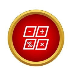 Marks calculation icon simple style vector image