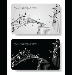 Music cards templates vector