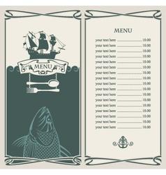 Ocean menu vector