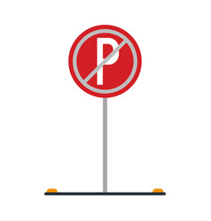 prohibited parking car sign traffic vector image