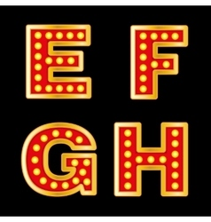 Retro lights Letters vector image