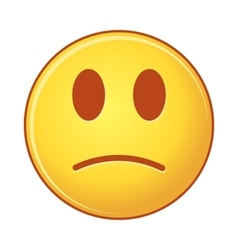 Sad emoji on white background isolated object of vector