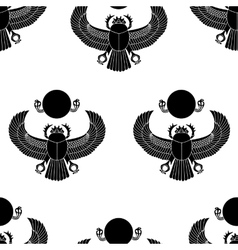 Scarab silhouette vector image vector image