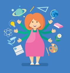 school teacher vector image