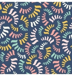 seamless abstract pattern Colorful spirals vector image vector image