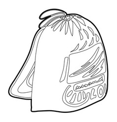 Sport backpack icon outline vector