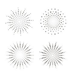 Starburst fireworks shapes vector