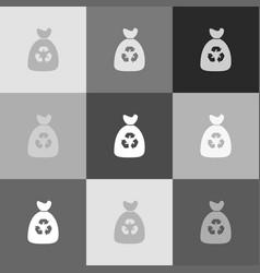 trash bag icon grayscale version of vector image vector image