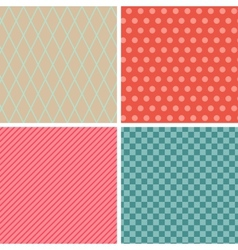 Seamless abstract retro pattern Set of 4 geometric vector image