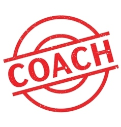 Coach rubber stamp vector