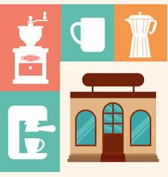 Coffee shop restaurant business vector