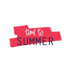 paintbrush smear and lettering - summer vector image