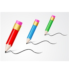 Back to school concept writing with pencil vector