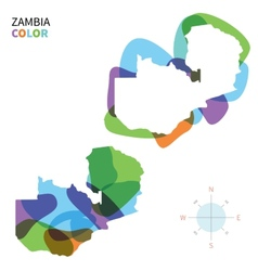 Abstract color map of zambia vector
