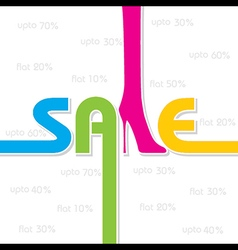 Sale background and label for business promotion s vector
