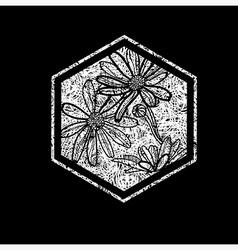 floral logo 03 grunge vector image
