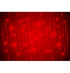 Sparkling stars in red light vector