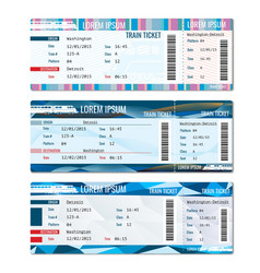 Train tickets set vector