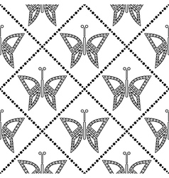 Pattern butterflies decorative repeating ornament vector