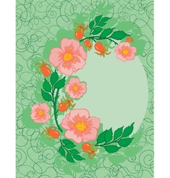 Abstract roses frame vector image