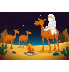 Arab and camel vector image vector image