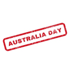 Australia day text rubber stamp vector