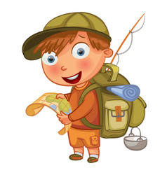 Boy scouts funny cartoon character vector
