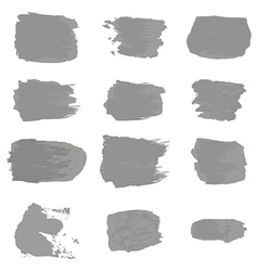 brush stroke gray paint abstract white background vector image vector image