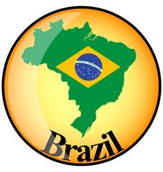 button Brazil vector image vector image