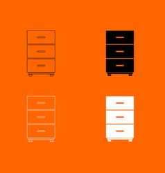 Cabinet icon vector