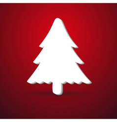 Christmas winter tree modern paper like symbol on vector